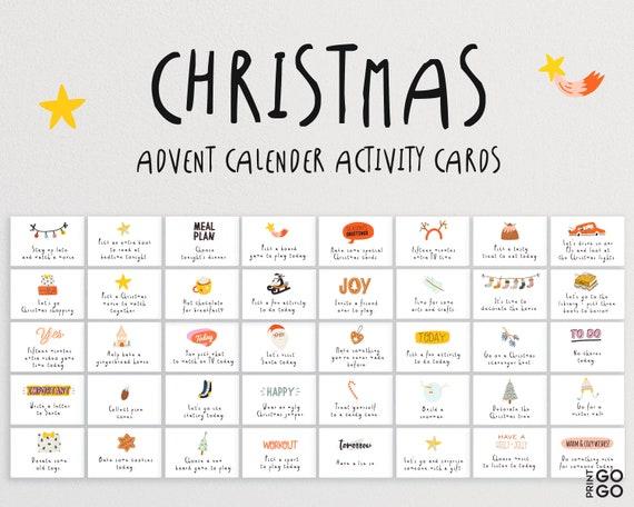 Christmas Advent Calendar Activity Cards  Family Activities