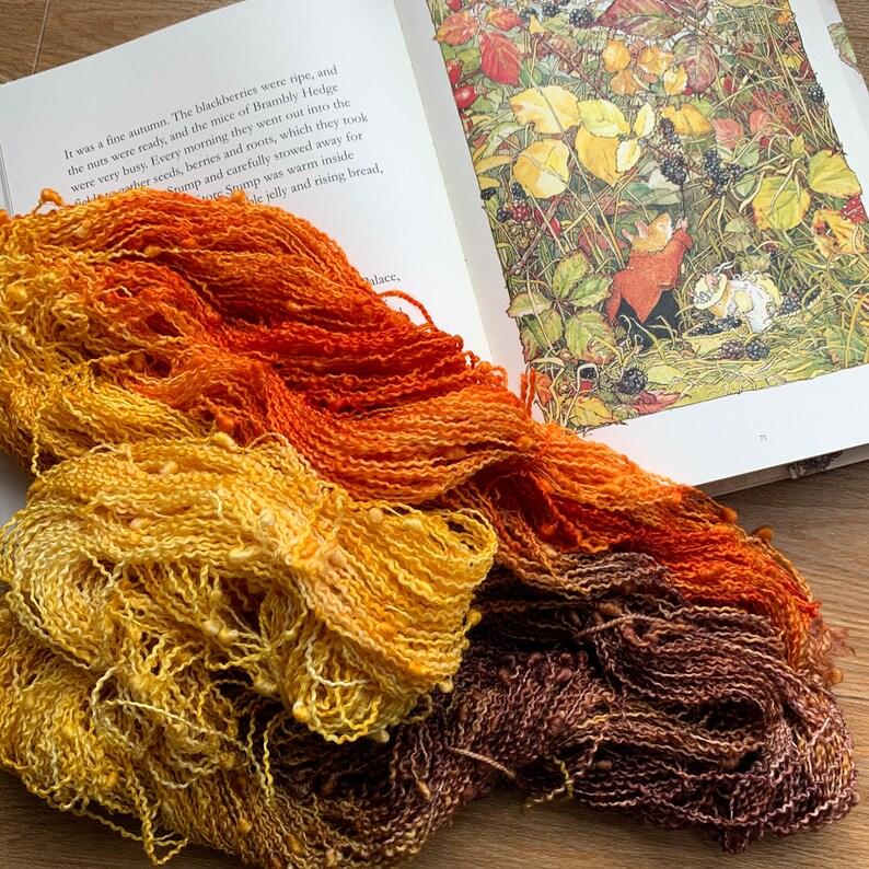 Autumn Leaves 100g 4ply slub yarn image 1