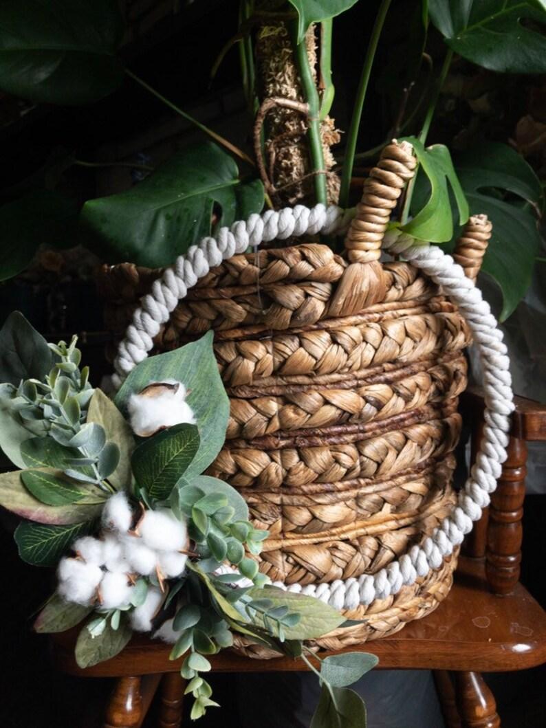 Spring Wreath Ginnie Cotton Wreath Summer Wreath Farmhouse Wreath All Season Wreath