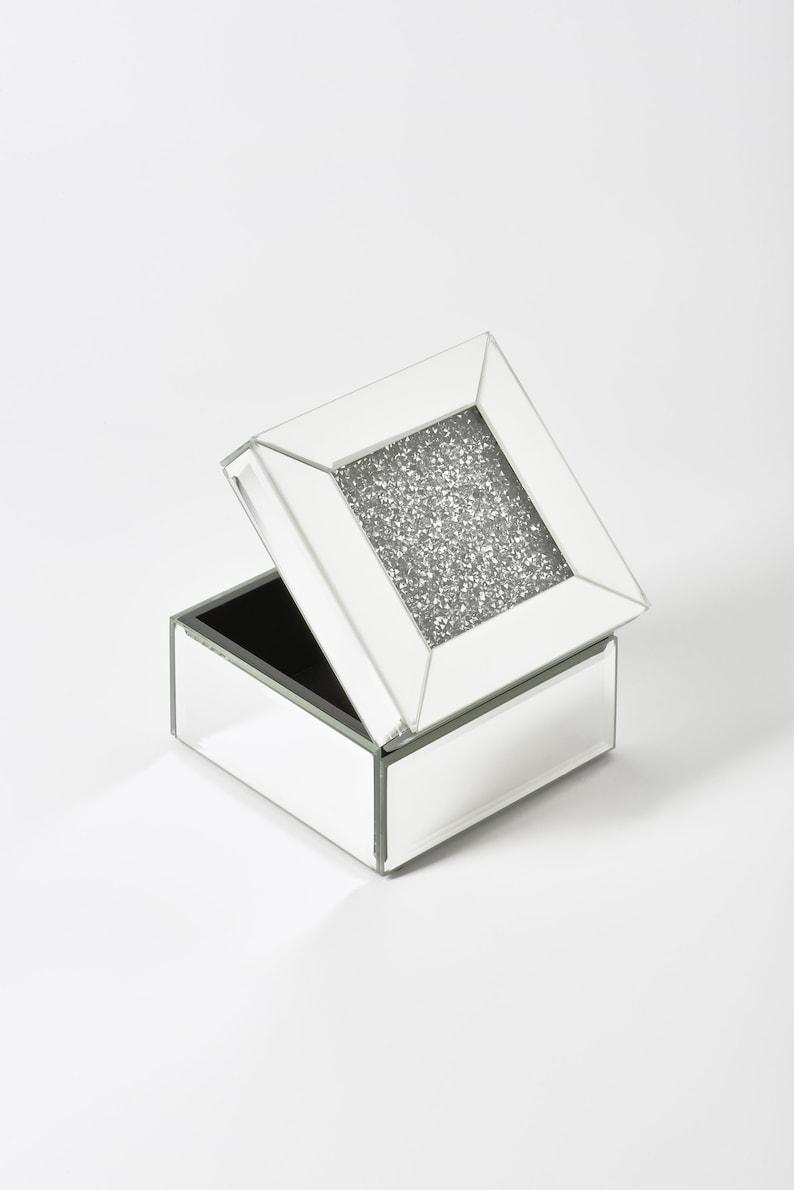 5 Mirrored Crystal Jewelry Box