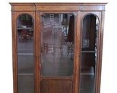 20th Century Italian Poplar Vitrine or Bookcase