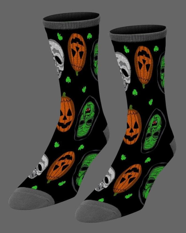 Halloween 3 Season of the Witch Silver Shamrock Socks Fright Rags