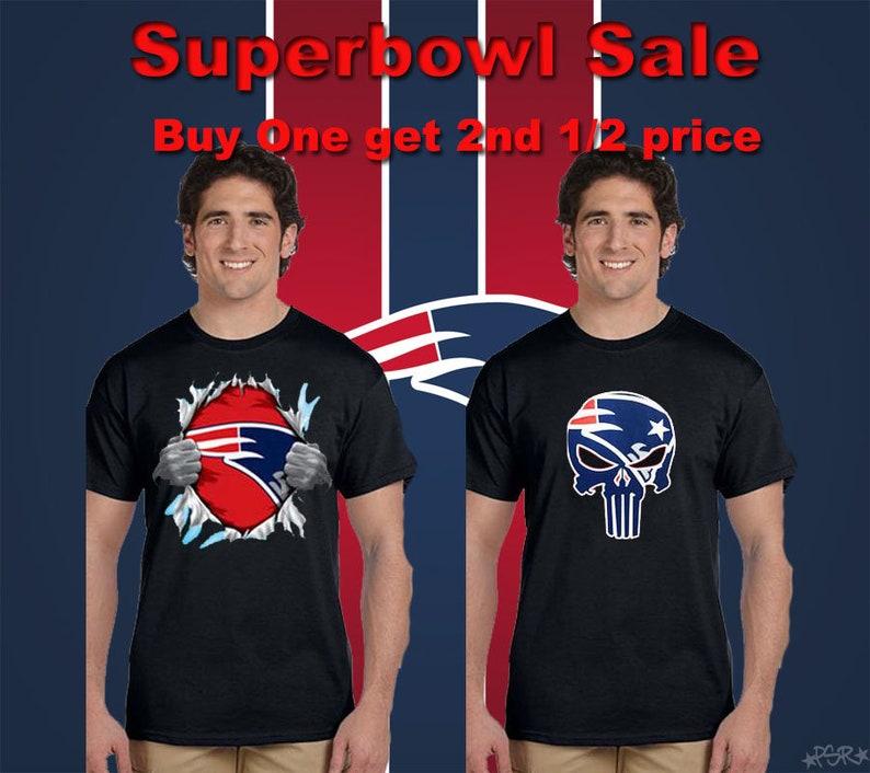 SALE Superbowl Shirts New England Patriots Punisher   Superman  d42d2da82