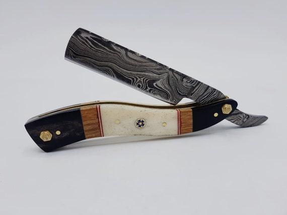 8.50 Beautiful Custom Handmade Damascus Straight Razor BLADE S005