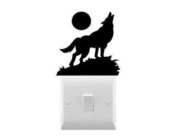 Wolf Light Switch Etsy