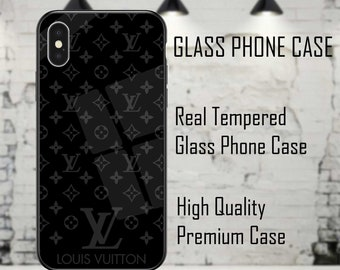designer iphone case etsylouis vuitton lv designer luxury glass black phone case cover for iphone 6 7 8 x xs xr max plus high quality real tempered glass back