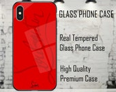 Christian Louboutin Luxury Designer Red Phone Case Cover for iPhone 6 7 8 X XS XR Max Plus Red Bottoms High Quality Real Tempered Glass