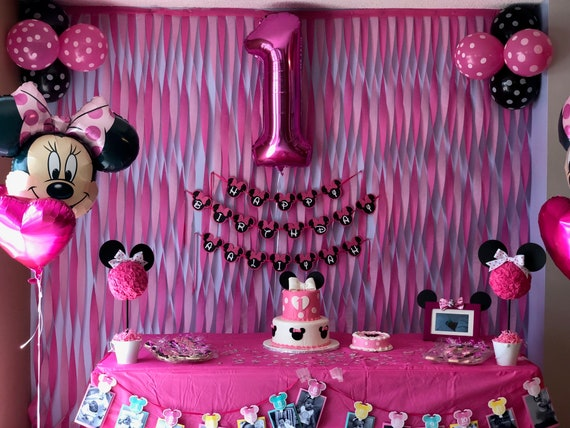 Minnie Mouse Birthday Theme Party Decorations Garland Banner