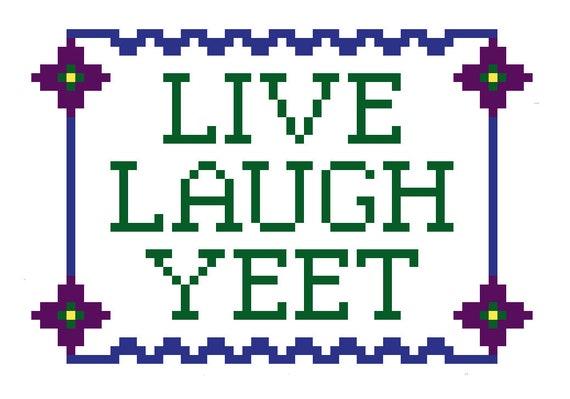 Yeet Cross Stitch Pattern