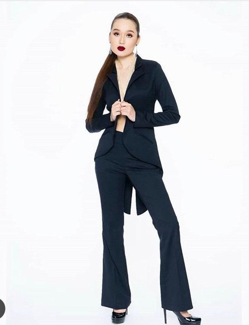 a2f69b7d39b Women's Navy Tuxedo Pant Suit | Etsy