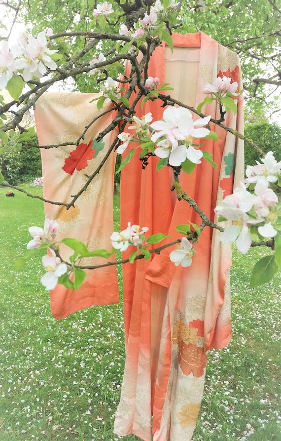 Japanese Kimono Silk Damask Wedding