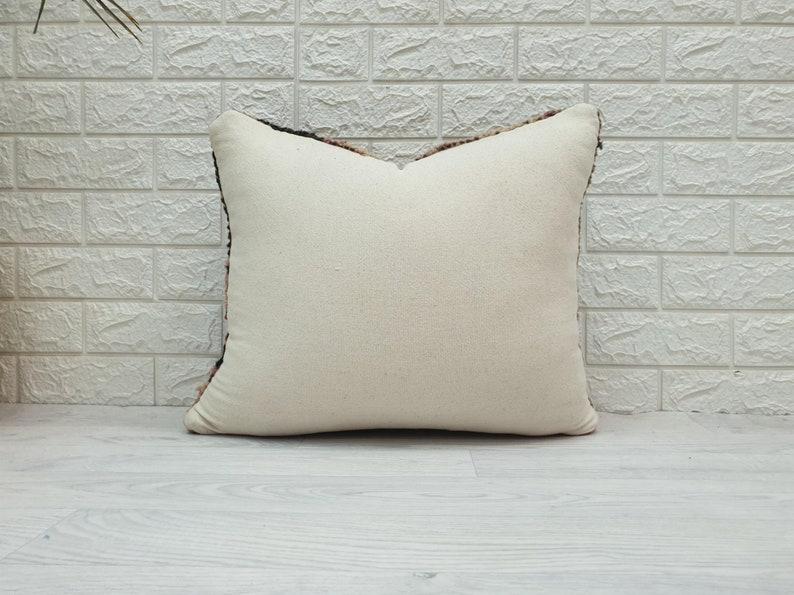 Vintage pillow Unique Vintage Cushion VNP176 16\u201dx17\u201d Moroccan Vintage Wool Pillow Berber Pillow Made from vintage rug Vintage Cushion
