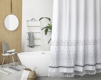 Long Shower Curtain | Etsy
