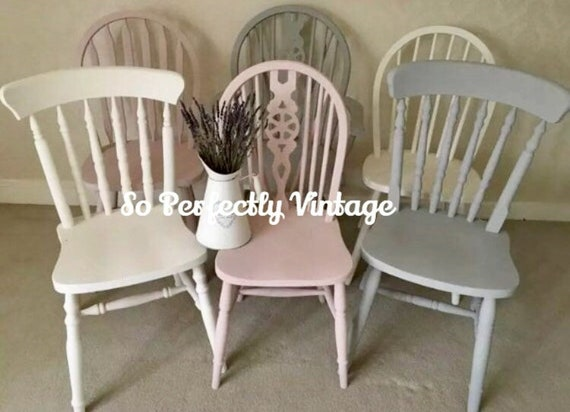 Rustic Farmhouse Kitchen Table and Windsor Chairs