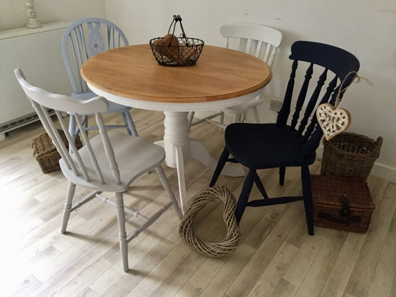 Farmhouse Dining Table Rustic Oak Country Style Kitchen Dining Table