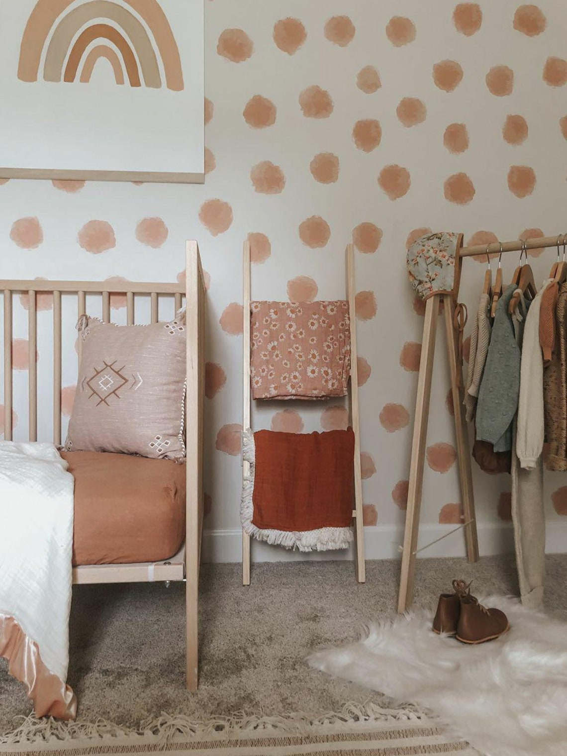 Clothing Rack and Blanket Ladder Set