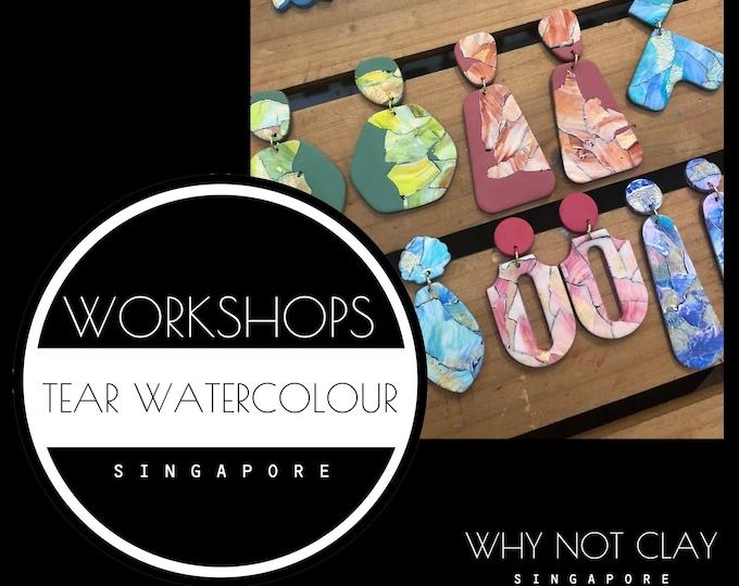 BEGINNER : Tear Watercolour Polymer Clay Workshop (OCT 2021)