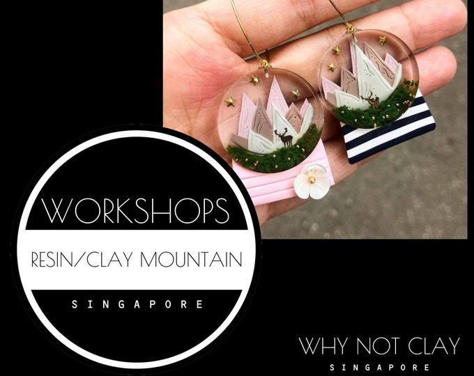 ADVANCE : Resin + Polymer Clay Mountain Workshop