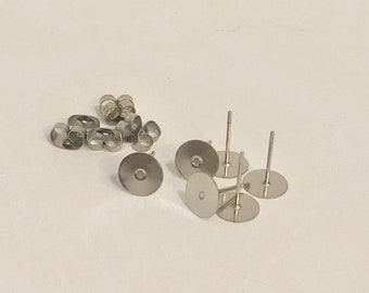 8mm Surgical Stainless steel Stud - 25 Pairs