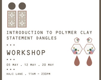 Introduction To Polymer Clay Workshop- Statement Dangles ( October 2019 Slots )