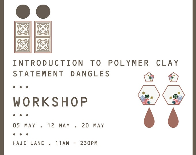 Featured listing image: Introduction To Polymer Clay Workshop- Statement Dangles ( MAY & JUNE 2019 SLOTS)
