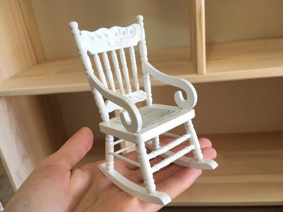 Wondrous Vintage Rocking Chair Rolling Chair1 12 Dollhouse 1 12Th Scale Miniatures Wood Arm Chair Wood Scandi Furniture Evergreenethics Interior Chair Design Evergreenethicsorg