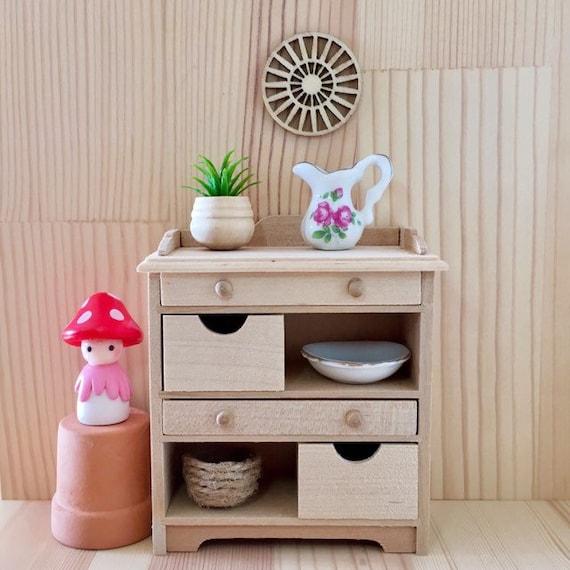 1:12 Dollhouse Miniature Mini Dish Shelves Kitchen Accessories  lx