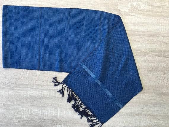 handicraft handmade Thai scarf 100/% natural cotton country  Fabric Indigo