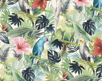 Tissu 100/% Coton TIMELESS TREASURES fleurs tropicales C5436