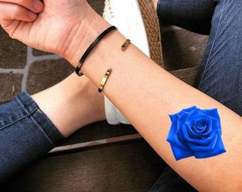 Blue rose tattoo | Etsy