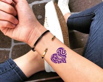 98b2a007c3fc8 Purple Heart Temporary Fake Tattoo Sticker (Set of 2)