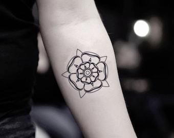 a63ec0feb Tudor Rose Temporary Fake Tattoo Sticker (Set of 2)