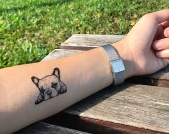 d51971408 French Bulldog Temporary Fake Tattoo Sticker (Set of 2)