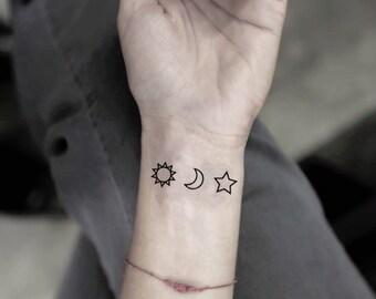 Sun Tattoo Etsy