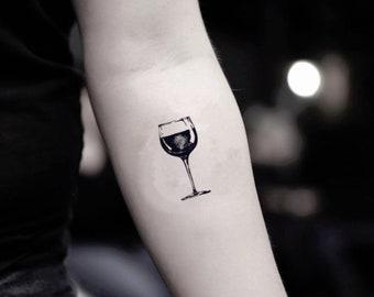 Wine Tattoo Etsy
