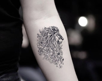 Lion tattoo   Etsy