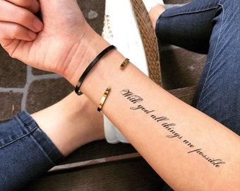 God Tattoo Etsy