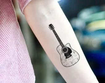 Guitar Tattoo Etsy