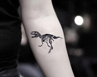d52126faf T Rex Temporary Fake Tattoo Sticker (Set of 2)