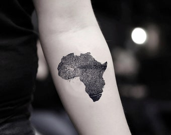 a354eba0a89f7 African Continent Temporary Fake Tattoo Sticker (Set of 2)