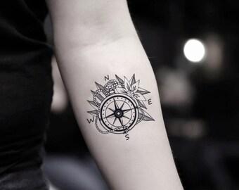 Compass Tattoo Etsy