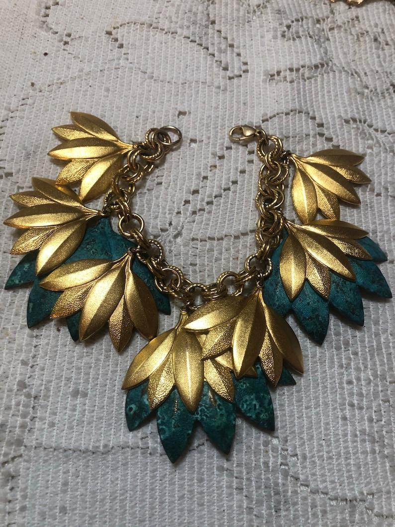 Gorgeous gold leaf bracelet