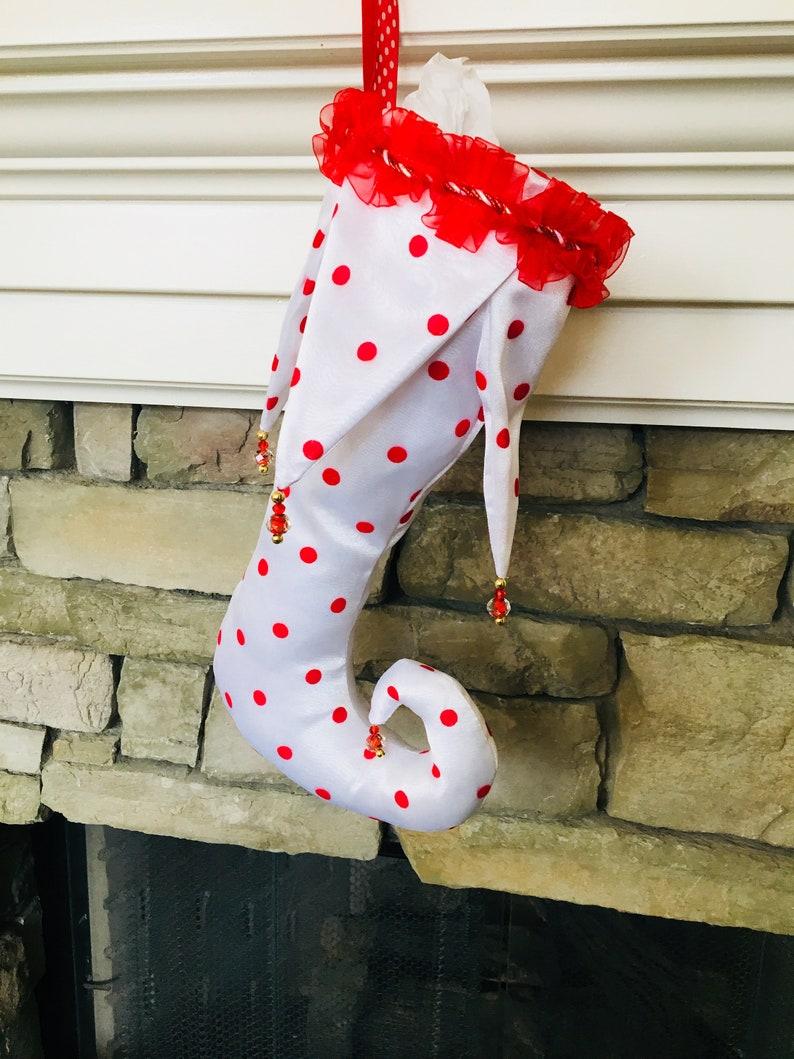 Polka-dot Christmas Stocking Door Hanger Small Dot