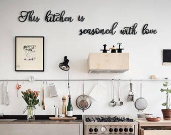 Kitchen wall art metal | Etsy