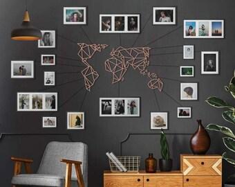 Metal Wall Art - World Map Bronze - Carte Du Monde - Mappa Del Mondo - Weltkarte- Gifts for New Homes - Interior Decoration - Travel