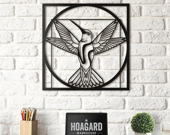 Metal Wall Art - Da Vinci - Vitruvian Bird - Gifts for New Homes - Interior Decoration - Drawing - Steel Art - Golden Ratio