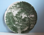 Johnson Brothers England WATERMILL green Dining Plate 25 cm flat Plate country House Country Pottery