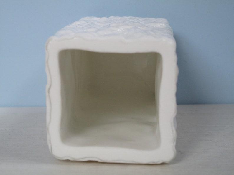 Germany Opalglas Vase Ingrid Glass Borkenglas Rock Crystal opal-White Milk Glass Vintage Shabby
