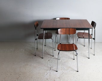 1960u0027s Vintage Formica Small Dining Table And 4 Chairs
