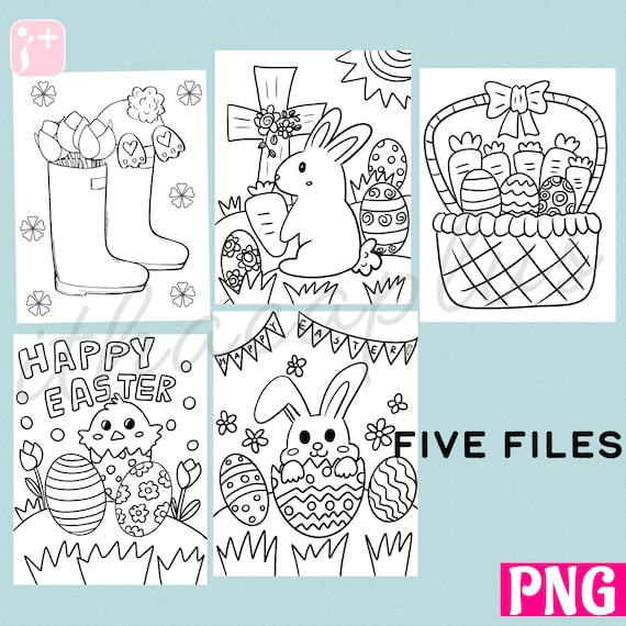Kids spring coloring activity page childrens activity page